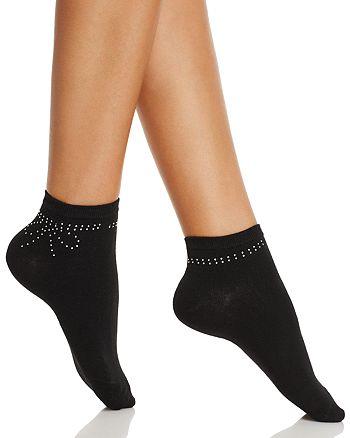 kate spade new york - Rhinestone Bow Ankle Socks