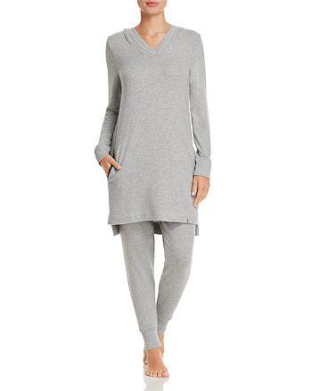 Jane & Bleecker New York - Ribbed Hooded Sweatshirt & Jogger Pants