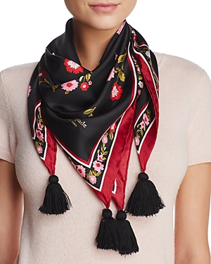kate spade new york In Bloom Silk Square Scarf