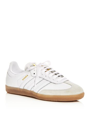 super popular ce6fb c6773 Adidas - Women s Samba Embossed Leather Lace Up Sneaker