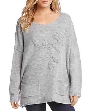 Karen Kane Floral Embroidered Oversize Sweater