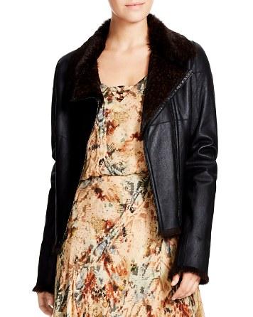 $Haute Hippie Mick Reversible Leather & Rabbit Fur Jacket - Bloomingdale's