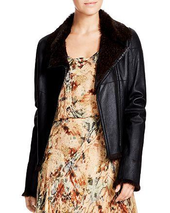 Haute Hippie - Mick Reversible Leather & Rabbit Fur Jacket