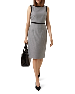 Hobbs London Sian Houndstooth Sheath Dress
