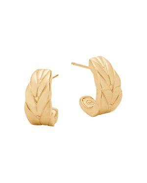 John Hardy 18K Yellow Gold Modern Chain Small J Hoop Earrings