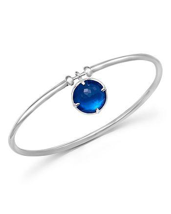 IPPOLITA - Sterling Silver Wonderland Mother-of-Pearl & Quartz Doublet Charm Bangle in Ultramarine