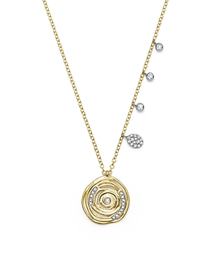 Click here for Meira T 14K White and Yellow Gold Diamond Spiral C... prices