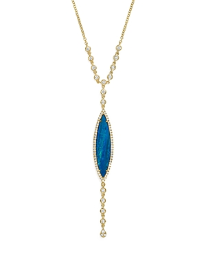 Click here for Meira T 14K Yellow Gold Opal & Diamond Marquise Y-... prices