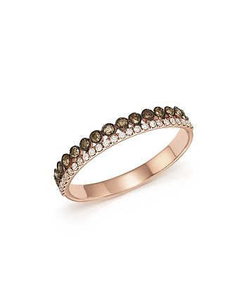 Bloomingdale's - White & Brown Diamond Band in 14K Rose Gold - 100% Exclusive