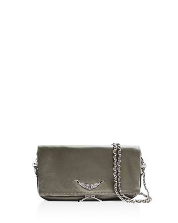 b0765bb6ca Zadig   Voltaire - Rock Leather Crossbody Clutch
