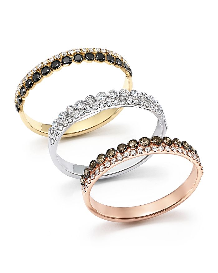 Bloomingdale's - Diamond Stacking Band Ring in 14K Gold - 100% Exclusive
