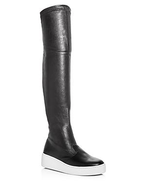 Robert Clergerie Women's Tinatua Leather Platform Over-the-Knee Boots