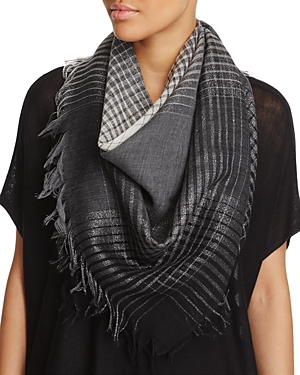 Eileen Fisher Plaid Scarf at Bloomingdale's