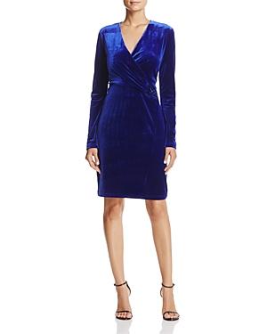 T Tahari Maureen Velvet Faux-Wrap Dress