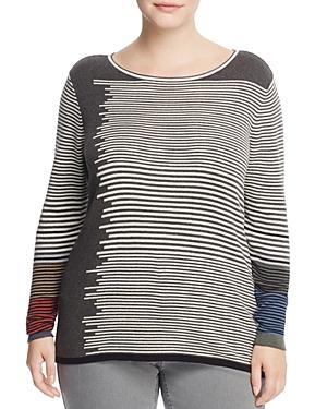 Nic and Zoe Plus Metro Stripe Sweater