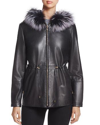 Maximilian Furs - Saga Fox Fur-Trim Leather Jacket - 100% Exclusive