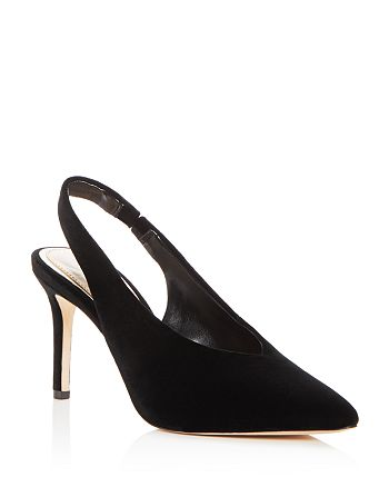 Imagine VINCE CAMUTO - Women's Melea Velvet Slingback Pointed Toe Pumps