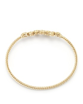 David Yurman - Precious Châtelaine Bracelet with Yellow Diamonds in 18K Gold