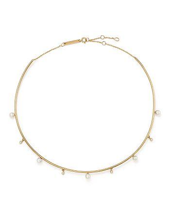 ac71616f5f6f2 Zoë Chicco 14K Yellow Gold Cultured Freshwater Pearl & Diamond Wire ...