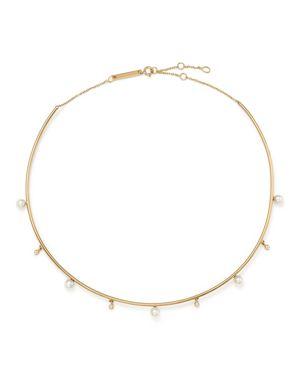Zoe Chicco 14K Yellow Gold Cultured Freshwater Pearl & Diamond Wire Choker, 17.5