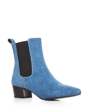 ARCHIVE Women'S Mercer Denim Pointed Toe Chelsea Booties in Denim Blue
