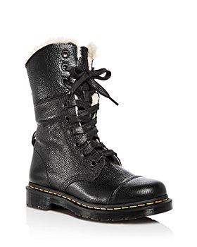 Dr. Martens - Women's Aimilita Leather Combat Boots