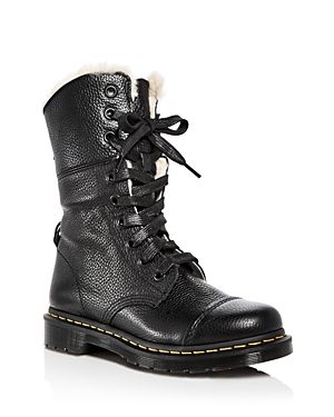 Dr. Martens Women's Aimilita Leather Combat Boots