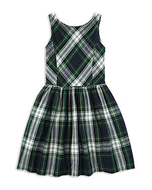 Ralph Lauren Childrenswear Girls' Flannel Fit-and-Flare Dress - Big Kid