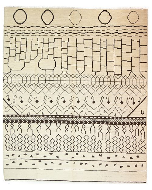 "Solo Rugs - Moroccan Area Rug, 9'9"" x 8'"