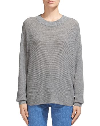 Whistles - Horizontal Ribbed-Knit Wool-Cashmere Sweater