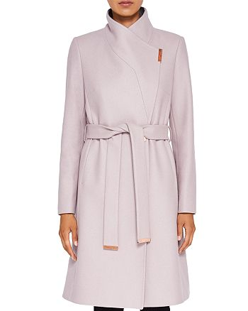 aed592aed2c2 Ted Baker Khera Contrast Long Wrap Coat | Bloomingdale's