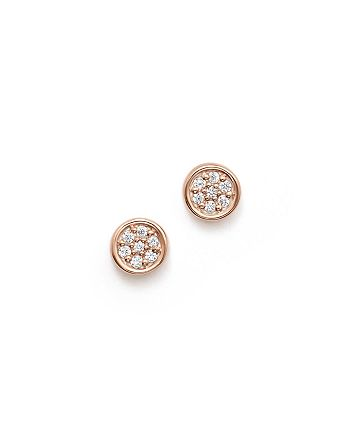 Bloomingdale's - Diamond Bezel Set Small Stud Earrings in 14K Rose Gold, .10 ct. t.w. - 100% Exclusive