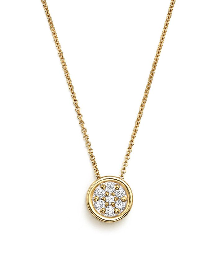 Bloomingdale's - Diamond Bezel Set Cluster Small Pendant Necklace in 14K Yellow Gold, .10 ct. t.w. - 100% Exclusive