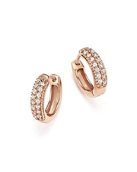 Bloomingdale's - Diamond Mini Hoop Earrings in 14K Rose Gold, .15 ct. t.w. - 100% Exclusive