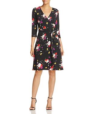 Leota Floral Faux Wrap Dress