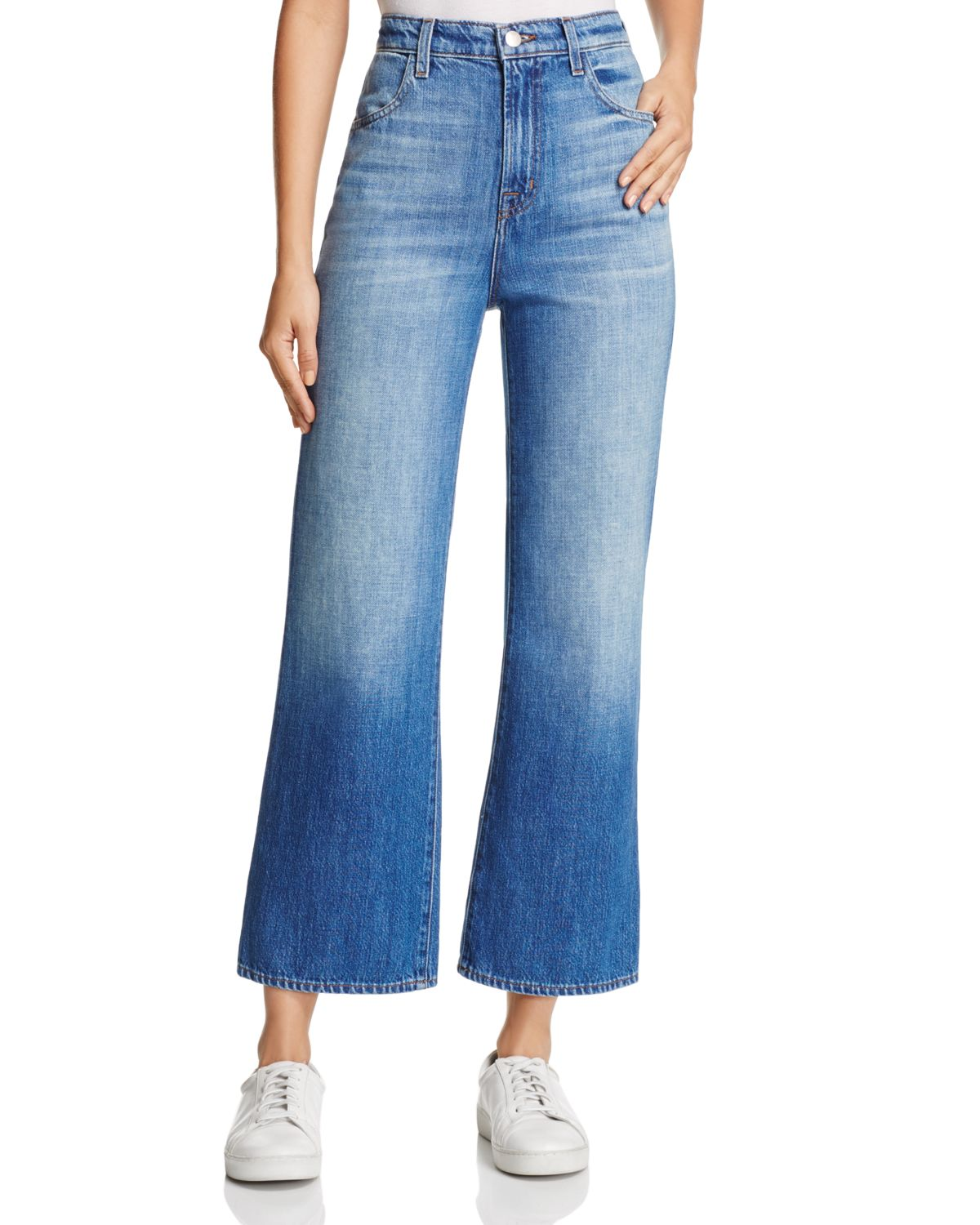 Joan high-waisted cropped jeans J Brand