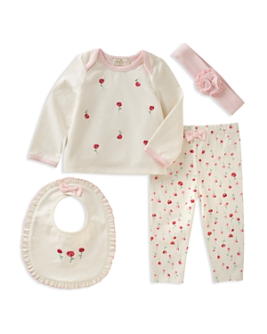 kate spade new york Girls' Top, Pants, Bib & Headband Set - Baby