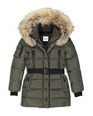 Sam Girls Matte Belted Puffer Jacket  Big Kid