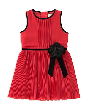 kate spade new york Girls' Pleated Chiffon Dress - Little Kid