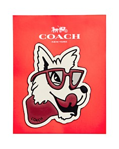COACH Classic Wolf Sticker - Bloomingdale's_0