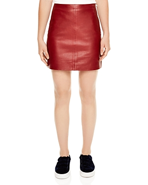 Sandro Diva Leather Mini Skirt