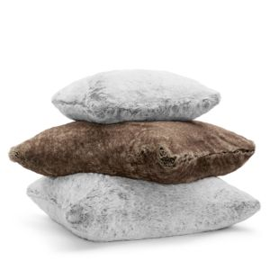 Hudson Park Frosted Faux Fur Floor Cushion - 100% Exclusive