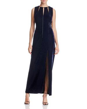Elie Tahari Jemra Long Velvet Dress