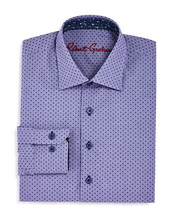 Robert Graham - Boys' Dotted Dress Shirt - Big Kid