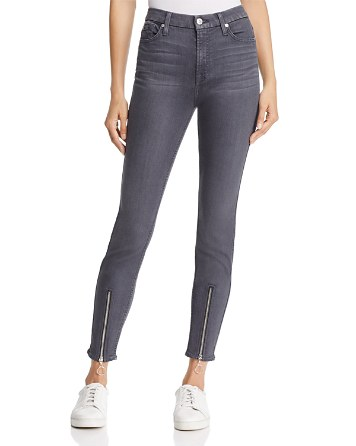 7 For All Mankind WeWoreWhat X Bloomingdale's High-Waist Ankle Skinny Jeans in B(air) Smoke - 100% Exclusive