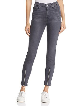7 For All Mankind - WeWoreWhat X Bloomingdale's High-Waist Ankle Skinny Jeans in B(air) Smoke - 100% Exclusive