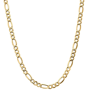 Bloomingdale's 14K YELLOW GOLD 7.3MM SEMI SOLID FIGARO CHAIN NECKLACE, 24 - 100% EXCLUSIVE