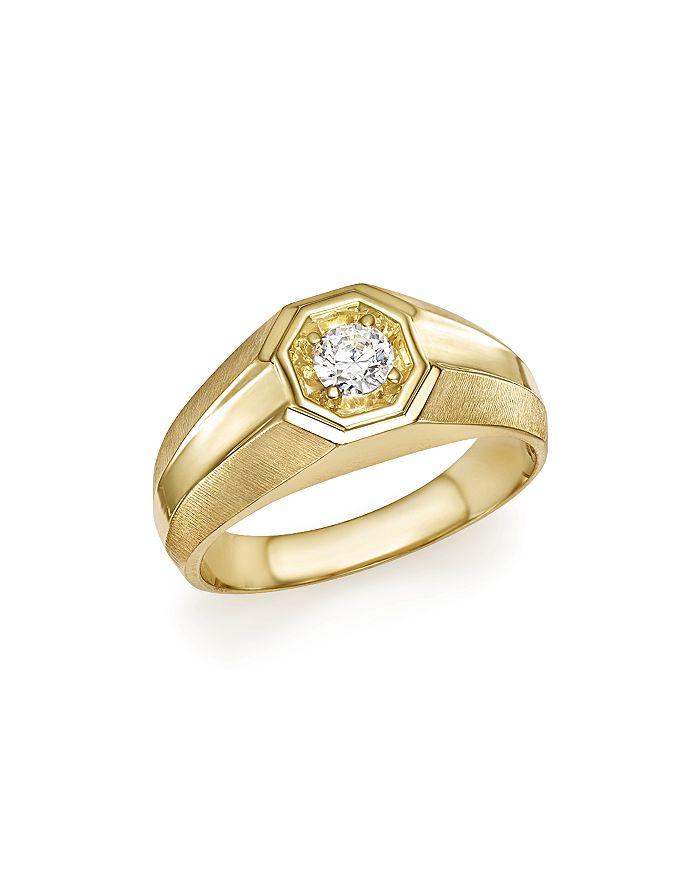 Bloomingdale's - Diamond Men's Ring in 14K Yellow Gold, .25 ct. t.w. - 100% Exclusive