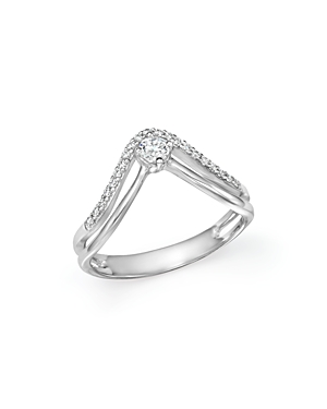 Bloomingdale's Diamond Double Row Ring in 14K White Gold, .25 ct. t.w. - 100% Exclusive