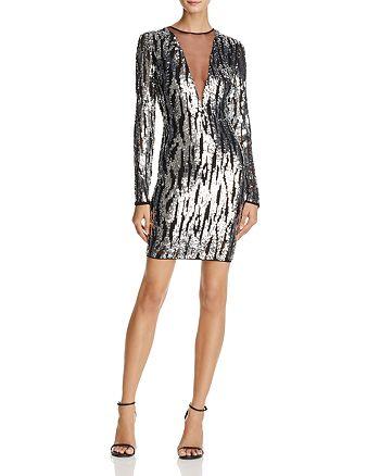 Sunset & Spring - Deep-V Sequin Dress - 100% Exclusive